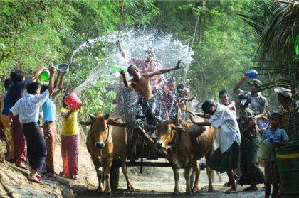 Thingyan Water festival in Myanmar